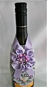 Iné doplnky - Stuhy na svadobné fľaše - 11524997_