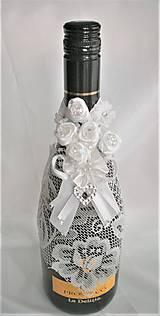 Iné doplnky - Stuhy na svadobné fľaše - 11524998_