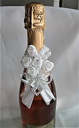 Iné doplnky - Stuhy na svadobné fľaše - 11525036_