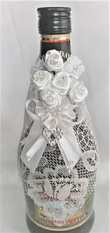 Iné doplnky - Stuhy na svadobné fľaše - 11525037_