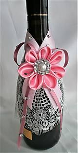 Iné doplnky - Stuhy na svadobné fľaše - 11525038_