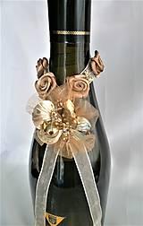 Iné doplnky - Stuhy na svadobné fľaše - 11525039_