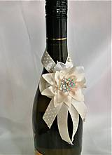 Iné doplnky - Stuhy na svadobné fľaše - 11525362_