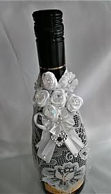 Iné doplnky - Stuhy na svadobné fľaše - 11525363_