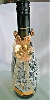 Iné doplnky - Stuhy na svadobné fľaše - 11525365_