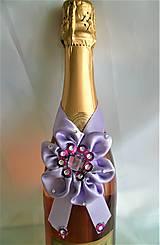 Iné doplnky - Stuhy na svadobné fľaše - 11525377_