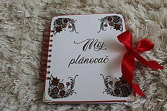 Papiernictvo - Plánovač  (Červená) - 11524963_