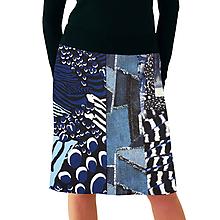 Sukne - Sukně mix do modra - 11525554_