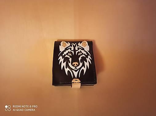 Kožená peňaženka vlk