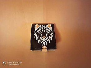 Peňaženky - Kožená peňaženka vlk - 11526361_