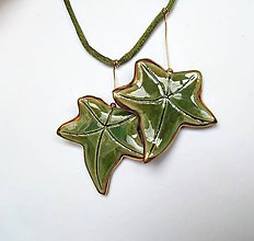 Náhrdelníky - Keramický šperk ...Brečťanový... - 11525263_