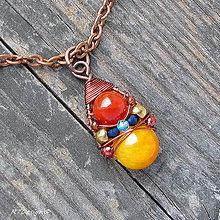 Náhrdelníky - Náhrdelník JADEIT & KARNEOL - 11526142_