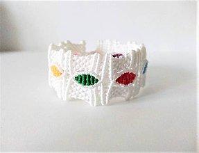 Náramky - Makramé náramok biely 2 - 11523749_