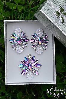 Sady šperkov - Set náušnice a prívesok - 11524697_