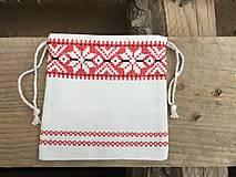 Úžitkový textil - vrecúško folkový vzor - 11523729_