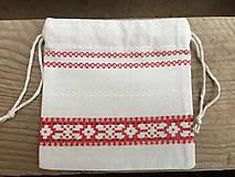 Úžitkový textil - vrecúško folkový vzor - 11523730_