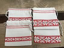 Úžitkový textil - vrecúško folkový vzor - 11523731_