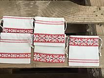 Úžitkový textil - vrecúško folkový vzor - 11523732_