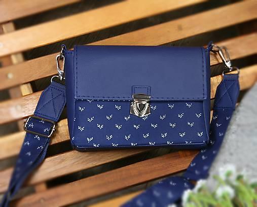 kabelka Táňa modrotlačová modrá 1