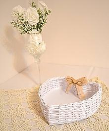 Košíky - Srdce na svadobné pierka - 11525835_