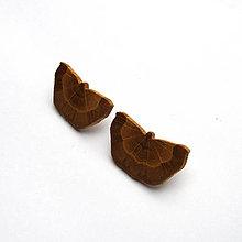 Náušnice - Drevené náušnice napichovacie - dubové motýle - 11524175_