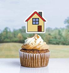 Detské doplnky - Detský minimalizmus - zápich na muffin (domček) - 11523712_