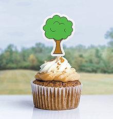 Detské doplnky - Detský minimalizmus - zápich na muffin (stromček) - 11523716_