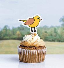 Detské doplnky - Detský minimalizmus - zápich na muffin (vtáčik) - 11523744_