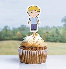 Detské doplnky - Detský minimalizmus - zápich na muffin (chlapec) - 11523756_
