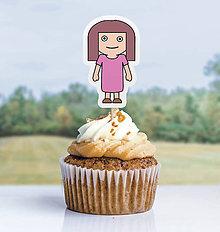 Detské doplnky - Detský minimalizmus - zápich na muffin (dievča) - 11523758_