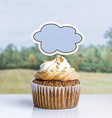 Dekorácie - Detský minimalizmus - zápich na muffin (obláčik) - 11523791_