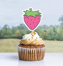 Dekorácie - Detský minimalizmus - zápich na muffin (jahôdka) - 11523835_