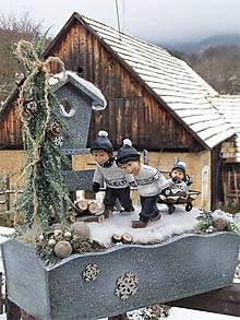 Dekorácie - zimná dekorácia: Traja bratia - 11528093_