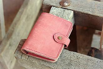 Peňaženky - Kožená peňaženka aj na veľké doklady V.a - 11527542_