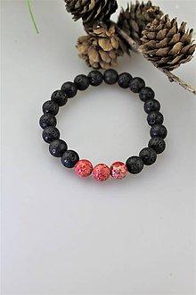 Náramky - náramok z jaspisu a čiernej lávy - 11530117_