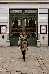 Kabáty - Upcyklovaný kabát BELLA-zelený - 11526607_