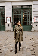 Kabáty - Upcyklovaný kabát BELLA-zelený - 11526608_