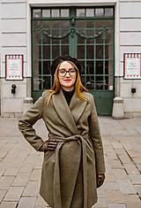 Kabáty - Upcyklovaný kabát BELLA-zelený - 11526609_