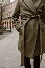 Kabáty - Upcyklovaný kabát BELLA-zelený - 11526611_
