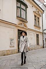 Kabáty - Upcyklovaný kabát BELLA-sivý - 11526681_