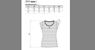 Tričká - Rodinná námornícka sada tričiek - srdcia - 11529614_