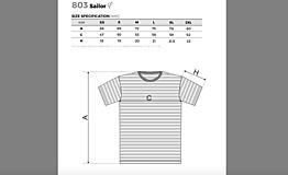 Tričká - Rodinná námornícka sada tričiek - srdcia - 11529616_