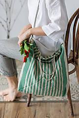 Nákupné tašky - Ľanová taška De Em - 11528331_