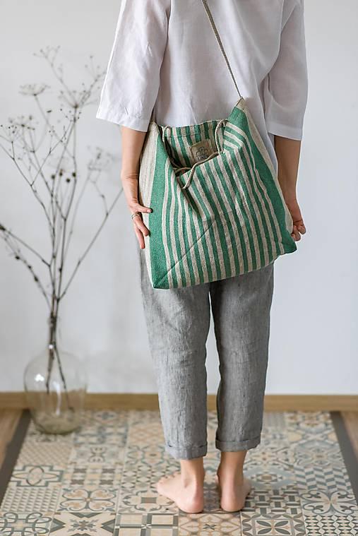 Nákupné tašky - Ľanová taška De Em - 11528448_