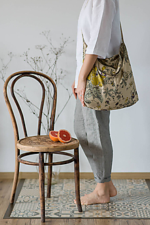 Nákupné tašky - Ľanová taška Do tašky - 11528631_