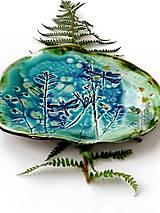Nádoby - tanier misa prírodný vzor tyrkysová - 11527373_