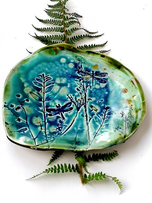 tanier misa prírodný vzor tyrkysová