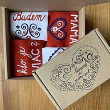 """Obuv - Maľované ponožky s nápisom: """"Budem MAMA"""" (+ """"ja som mama / kto je viac"""" (sada)) - 11526912_"""