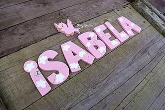 Detské doplnky - ISABELA obláčiková....9,5cm písmenká - 11532028_