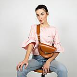 Kabelky - Kožená kabelka Daphne (koňaková hnedá) - 11531600_